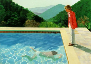 Portrait of an Artist (Pool with Two Figures). 1972. Lewis Collection