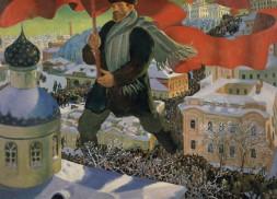 Boris Mikailovich Kustodiev, Bolshevik, 1920 Oil on canvas, 101 x 140.5 cm State Tretyakov Gallery Photo (c) State Tretyakov Gallery