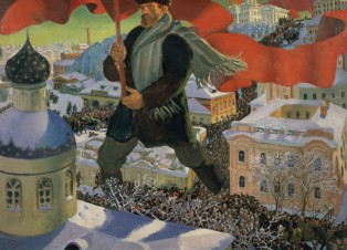 Boris Mikailovich Kustodiev, Bolshevik, 1920 Oil on canvas, 101 x 140.5 cm, State Tretyakov Gallery. Photo (c) State Tretyakov Gallery