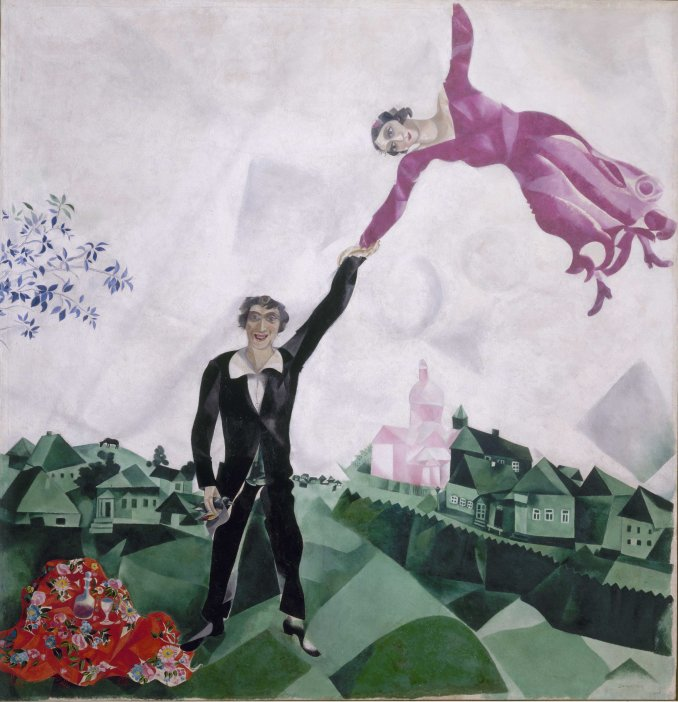 Marc Chagall, Promenade, 1917-18, Oil on canvas, 175.2 x 168.4 cm, State Russian Museum, St. Petersburg Photo (c) 2016, State Russian Museum, St. Petersburg (c) DACS 2016
