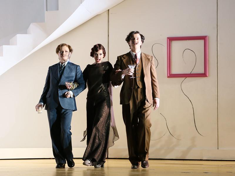ENO Partenope Sarah Tynan, James Laing and Patricia Bardon (c) Donald Cooper-L