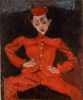 Chaim Soutine 1893-1943, Bellboy, around 1925, oil on canvas Centre Georges Pompidou, Paris, Musee national d_art moderne Centre de creation industrielle