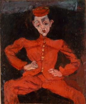 Chaim Soutine 1893-1943, Bellboy, around 1925, oil on canvas Centre Georges Pompidou, Paris, Musee national d_art moderne Centre de creation industrielle
