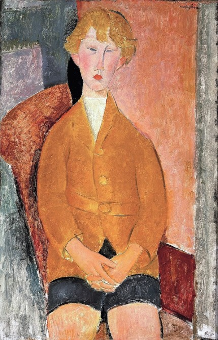 Amedeo Modigliani, Boy in Short Pants, c.1918, Dallas Museum of Art, gift of the Leland Fikes Foundation, Inc. 1977