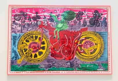 Grayson Perry 'Selfie with Political Causes', courtesy of RA