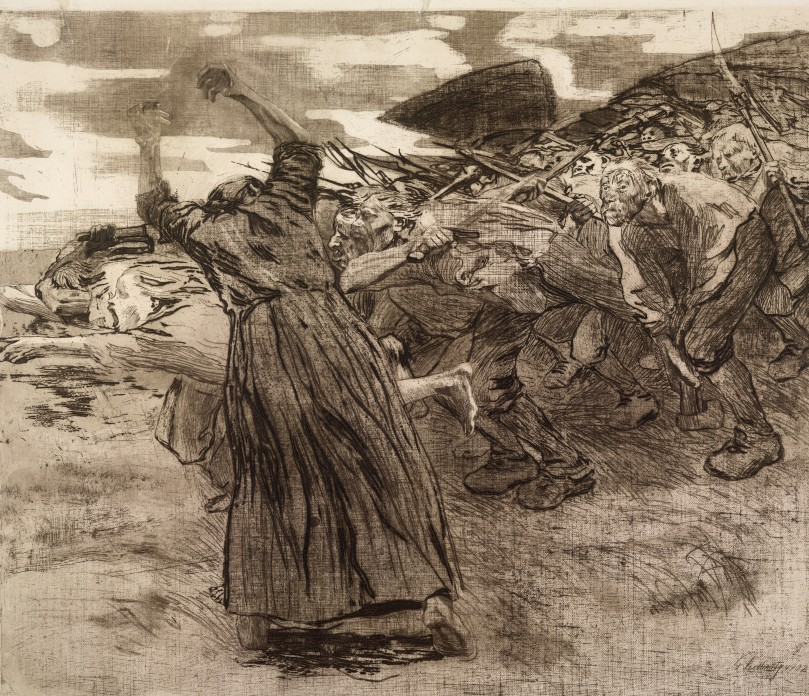 Käthe Kollwitz, Losbruch (Outbreak), 1903 © The Trustees of the British Museum