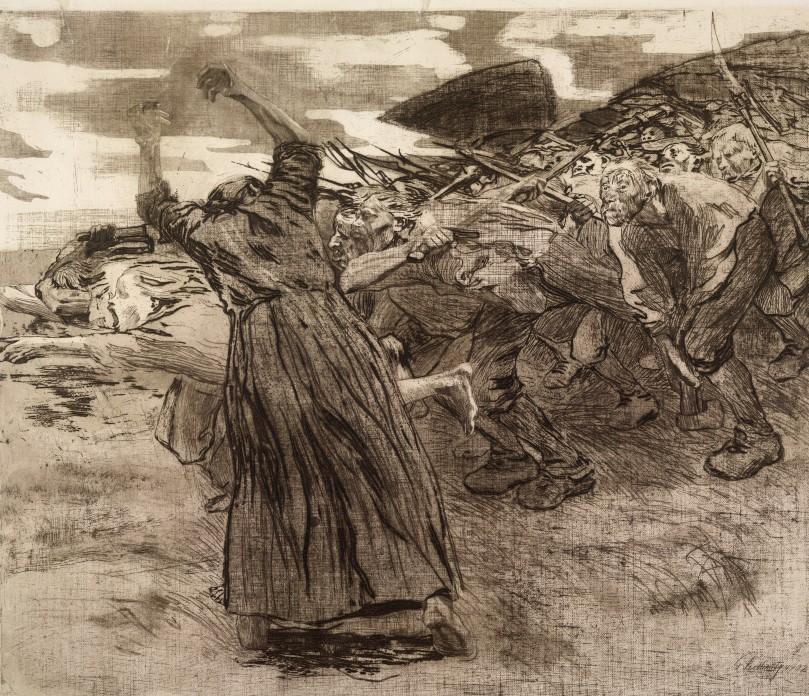 Käthe Kollwitz, Losbruch (Outbreak), 1903 © The Trustees of the British Museum