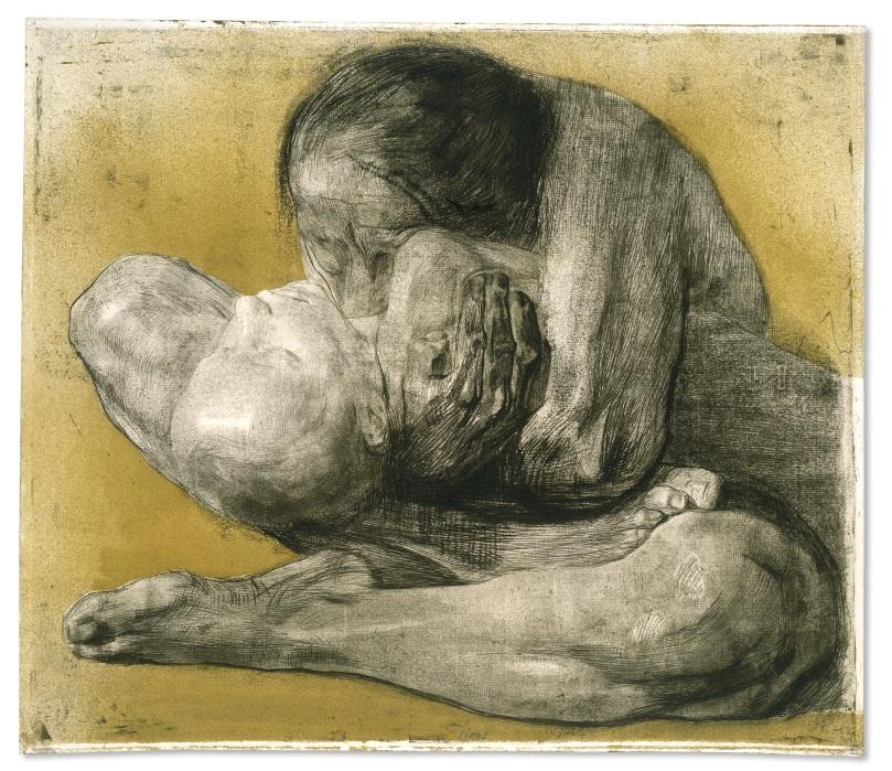 Käthe Kollwitz Woman with dead child, 1903,© The Trustees of the British Museum