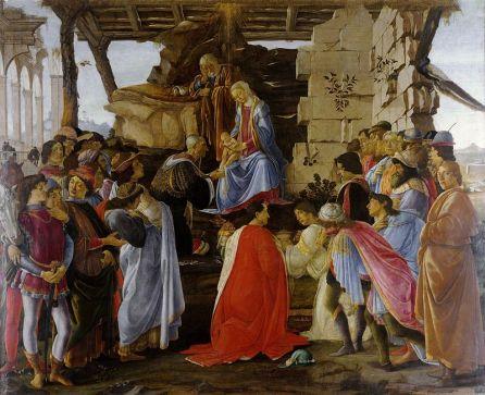 Sandro Botticelli, Adoration of the Magi, 1470, tempera on board, Galleria degli Uffizi, Florence