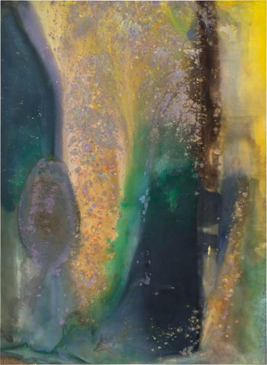 Frank Bowling, Ah Susan Whoosh, 1981, acrylic paint on linen