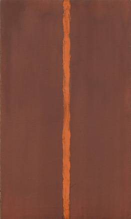 Barnett Newman, Onement, 1948, oil on canvas and oil on masking tape on canvas