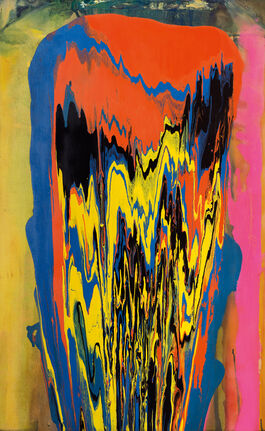 Frank Bowling, Tony's Anvil, 1975, acrylic paint on linen